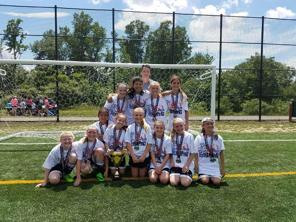 06 Girls Red Virginian Elite Soccer Tournament Champions